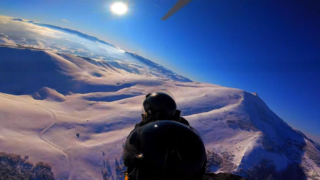 Gryocopter flight above Sarajevo