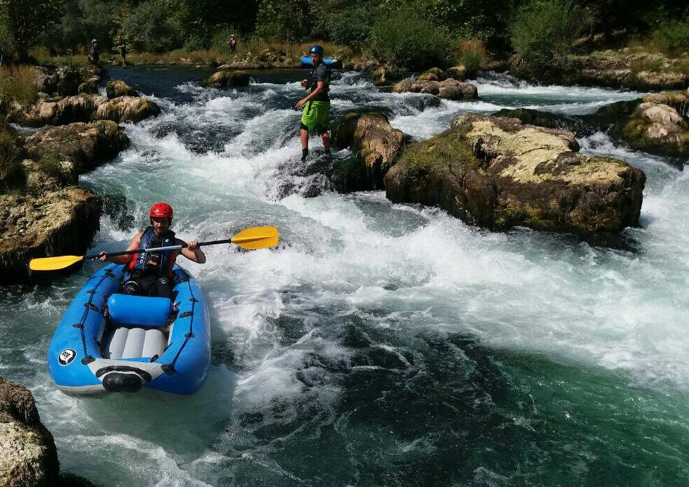 "Kayaking on river ""Una"""