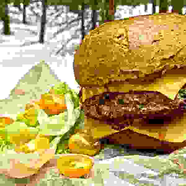 The biggest burger in this forest Somewhere in the woods