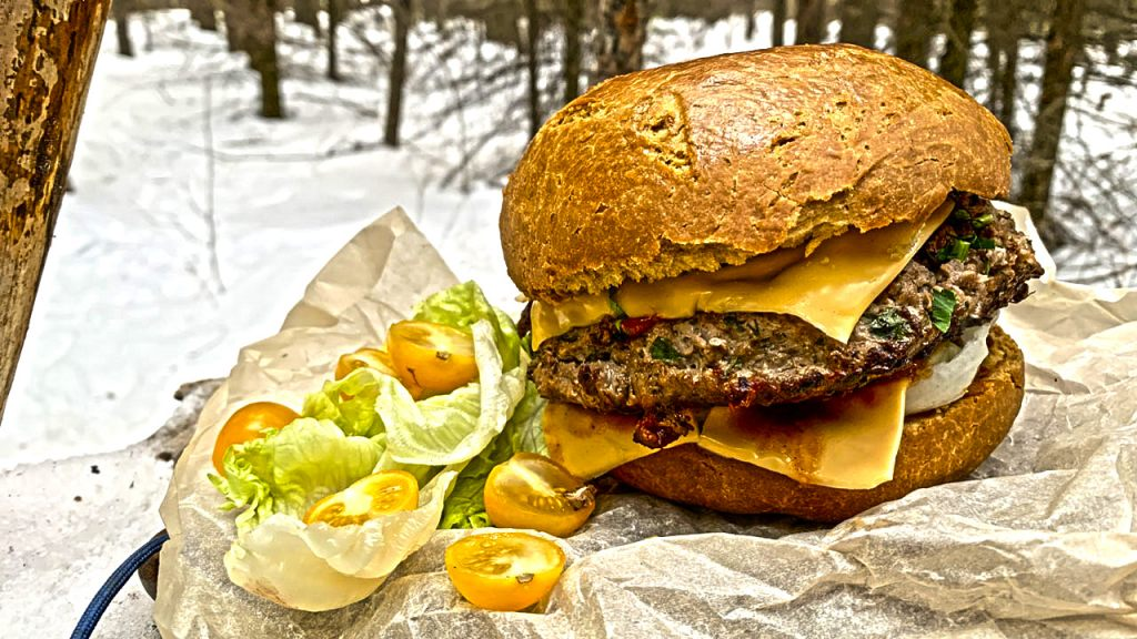 The biggest burger in this forest
