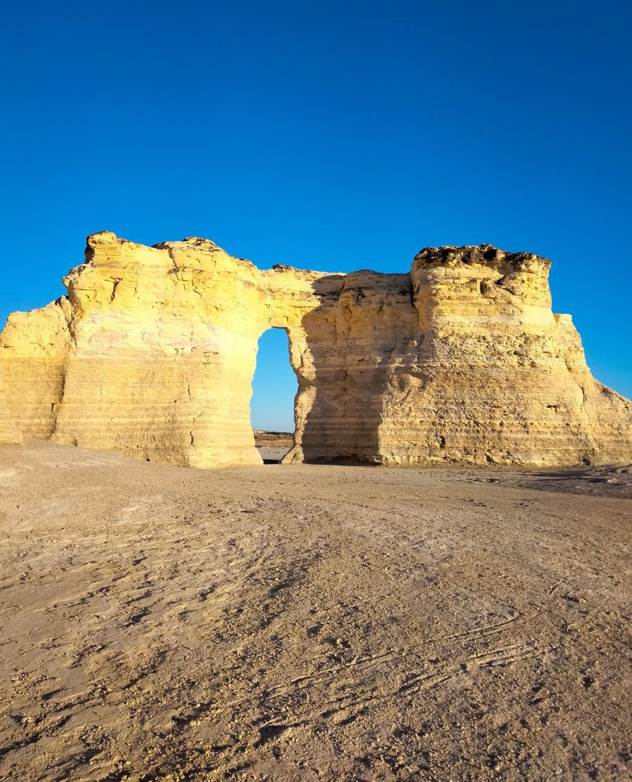 Monument Rocks Chalk Pyramids